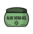 cosmetic jar aloe vera product icon flat design vector image