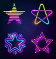 Decorative neon stars vector | Price: 1 Credit (USD $1)