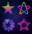 Decorative neon stars vector image