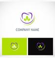 dent tooth organic logo vector image