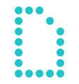 digital letter d display board round dot vector image vector image