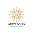 elegant flower logo design vector image