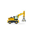 excavator commercial vehicles construction vector image vector image