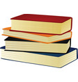 four closed books on the white background vector image
