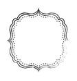 frame decoration emblem vector image vector image