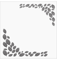 Frame for a card dotwork stipple gray leaves vector image vector image