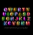 Funny Colorful Alphabet for party flyers vector image