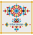 Geometric hipster tribal bright pixel design vector image vector image