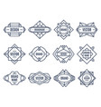 geometric labels geometrical badge minimal vector image vector image