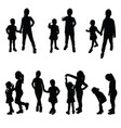 girls silhouette in black vector image vector image