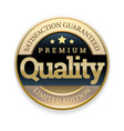 golden badge quality marker vector image vector image