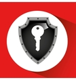 hand holding key security shield data vector image vector image