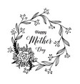 happy mother day beautiful card flower vector image