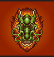 head dragon hair fire vector image vector image