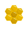 honey comb of bee icon flat style vector image vector image