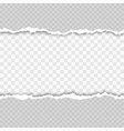 horizontal seamless torn white paper with shadow vector image vector image