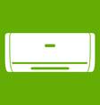 internal unit air conditioner icon green vector image vector image