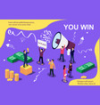 isometric concept group of people vector image vector image