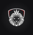 king lion head mascot on black background vector image vector image