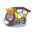 king train mascot cartoon style vector image