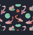 koi fish oriental pattern summer fisf pattern vector image vector image