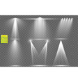 light sources concert lighting stage spotlights vector image