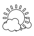 line light sun spring weather with clouds vector image vector image