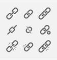 links icon set vector image