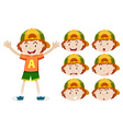 Little boy with different facial expressions vector image