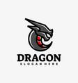 logo dragon e-sport and sport style vector image