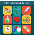 Medical flat color icons set vector image vector image