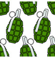 military grenade seamless pattern vector image