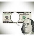 money speech bubble 100 vector image vector image