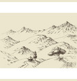 nature drawing mountains ranges sketch vector image vector image