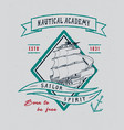 nautical academy handmade ship vector image vector image