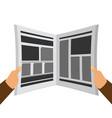 newspaper in the hands flat vector image