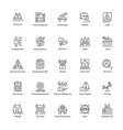 pack of business management line icons vector image