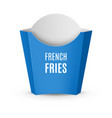 packaging for french fries vector image vector image