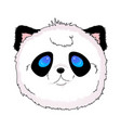panda face kawaii vector image