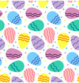 pattern wavy eggs vector image vector image