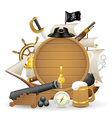 pirate concept icons 03 vector image vector image