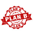 plan b stamp sign seal vector image vector image