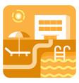 resort hotel icon vector image
