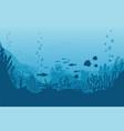 sea underwater background ocean bottom vector image vector image