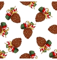 Seamless Pattern Fir Cones vector image vector image