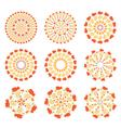 set autumn mandalas vector image
