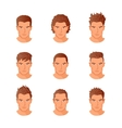 Set different hair style young men portraits vector image vector image