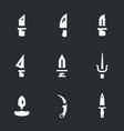 set knives icons vector image