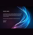 sound wave music voice vibration vector image vector image