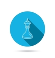 Strategy icon Chess queen or king sign vector image vector image